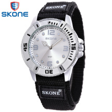 SKONE Sport Nylon Watchband for Women Female Amazing Quartz Wristwatch Lifte Waterproof Clock Hours for Woman