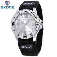 Skone sport nylon bracelet pour les femmes femme incroyable quartz montre-bracelet lifte étanche horloge heures pour femme