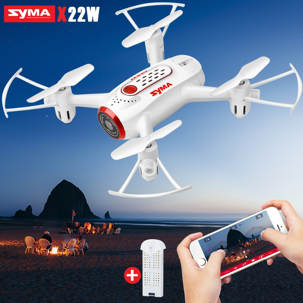 SYMA Official X22W Mini Drone with Wifi FPV Aircraft Dron with Camera Headless RC Helicopter Quadcopter Drones Extra Battery