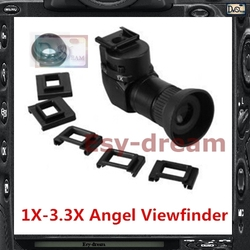 Seagull 1x-3.3x Angle View Finder Viewfinder for Nikon D800 D810 D800E D700 D4 D4S D3 5D2 5D3 70D 60D 700D 650D Camera PB409