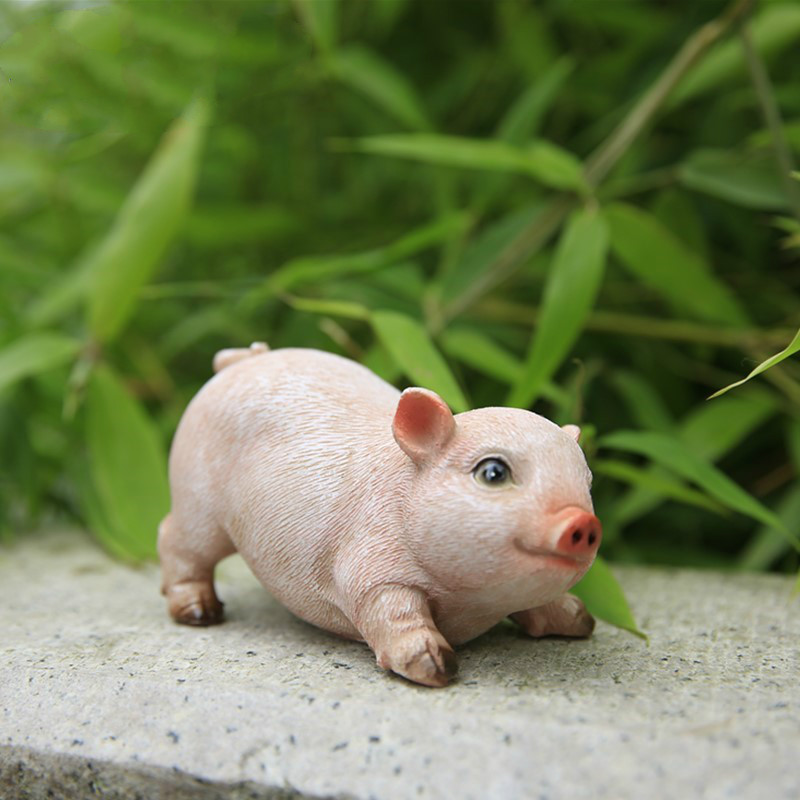 Adorable Animal Crafts Simulation Animal Sculptures Piggy Pig Ornaments  Garden Ornaments Garden Ornaments In Figurines U0026 Miniatures From Home U0026  Garden On ...