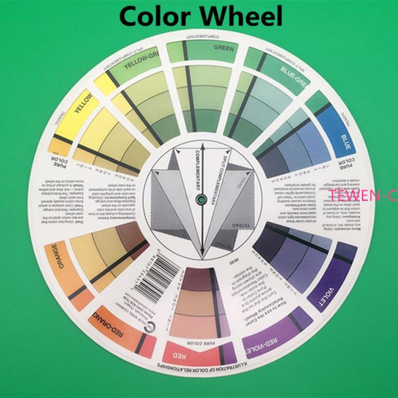 Freies Verschiffen 1 PC-Modulations-Farben-Werkzeug-Tätowierungs-dauerhafte Verfassungs-Farben-Rad benutzt, um verschiedene gewünschte Farben zu formulieren