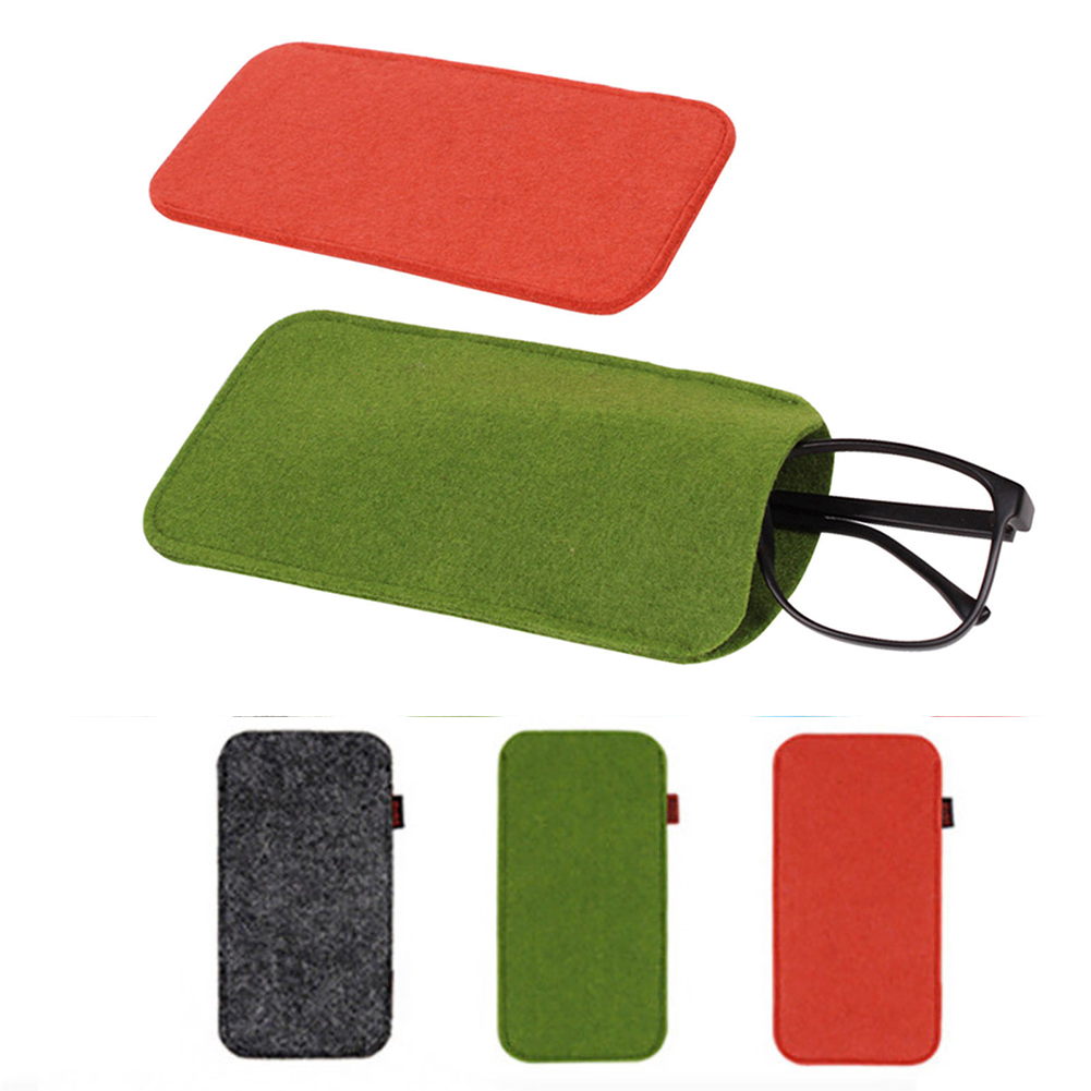 1 Pc Brief Glasses Case Soft Chemical Fiber Felt Cloth Sunglasses Bag Glasses Pouch Red/green/deep Gray Eyewear Accessories High Quality Goods Eyewear Accessories Apparel Accessories