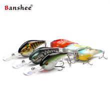 Banshee 6pcs/lot  75mm 24g VC02 Devil Deep Chub Round Bill Pike Walleye bass Deep Diving Crankbait