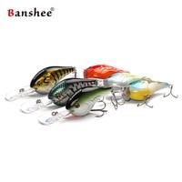 Banshee 6pcs/lot 75mm 24g VC02 Fishing Hard Lure Chub Round Bill Pike Walleye Bass Deep Diving Crankbait Artificial Bait