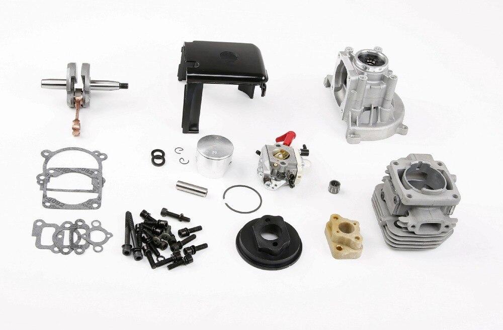 4 boulon 32cc 36cc de mise à niveau kit cylindre avec walbro 1107 carburateur pour 1/5 rc voiture pièces de moteur