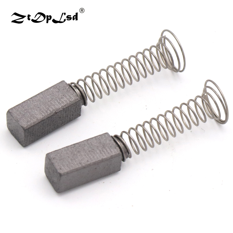 2pcs Drill Electric Grinder Replacement Black Carbon Brushes 5x10.5x30mm Spare Parts For Motors Dremel Rotary Tools Brush Motor