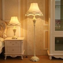 Европейский стиль гостиная лампа креативный вертикальный простой современный пасторальный прикроватный Торшер для спальни