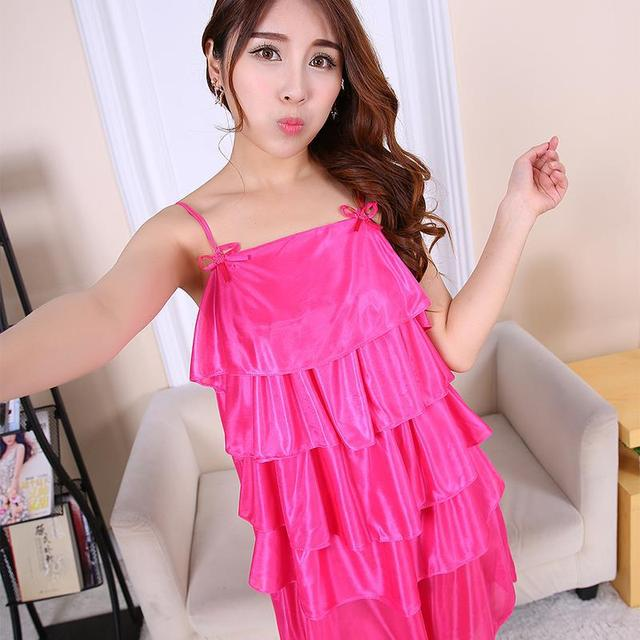 New Arrival Sexy Lingerie Women Girl Silk Robe Dress Babydoll Nightdress  Nightgown Sleepwear 1f30bf4cd