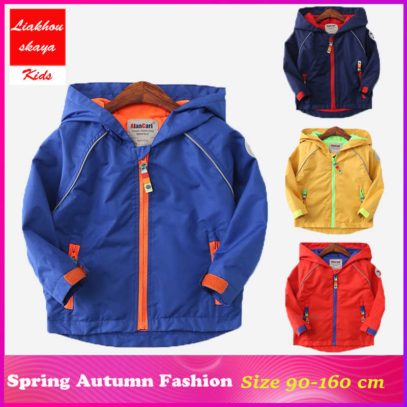 191e1743e Liakhouskaya Children Autumn Spring Jackets For Boys Teenager Age 5-14 2018  New Kids Waterproof