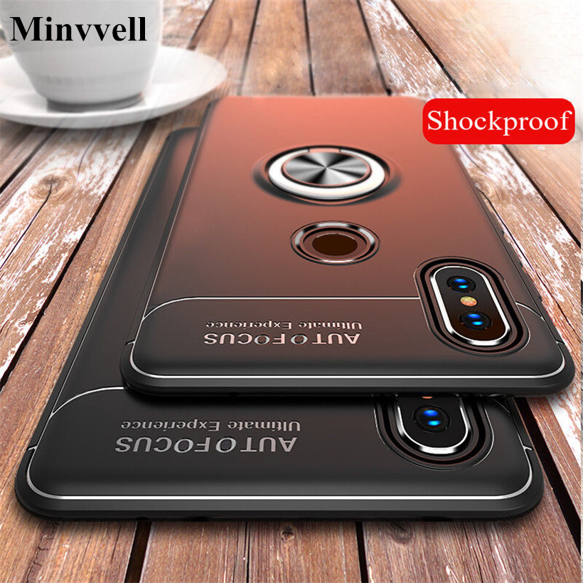 Luxury Car Bracket Ring Magnetic TPU Protective Full Cover Case For Xiaomi 8 MI 6 Redmi Note 5A Redmi 4X 4A Phone Case Shell
