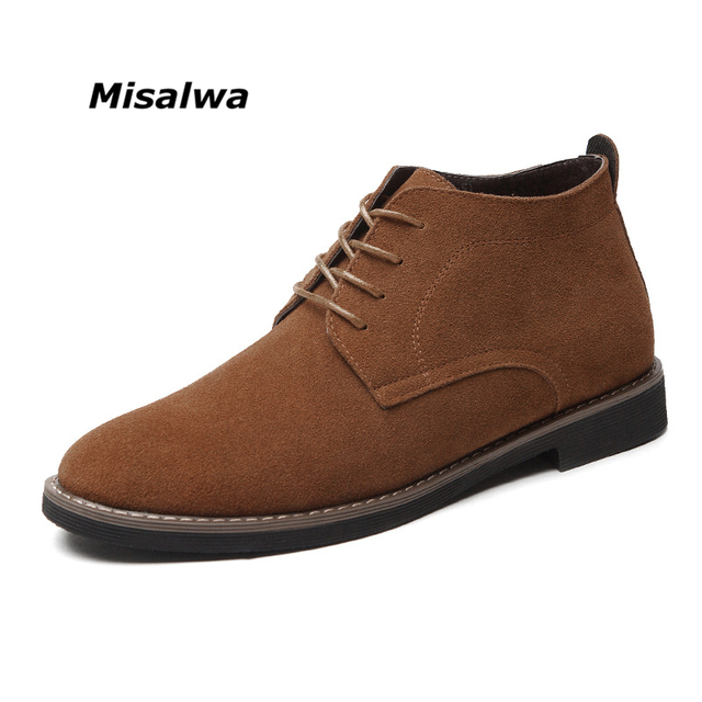 Winter Men Big Size 38-45 Boots Suede Male Business Casual Leather Boots Brand Quality Free Shipping