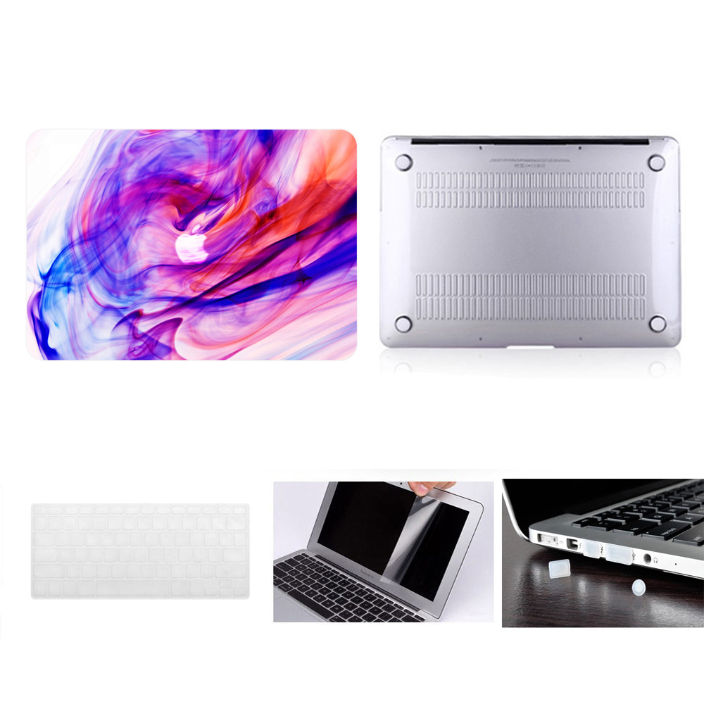 "Laptop Case Notebook Tablet Shell Keyboard Skin Cover Bag Screen Film Dust Plugs Fit 11 12 13 15""Macbook Pro Air Touch Bar A1708