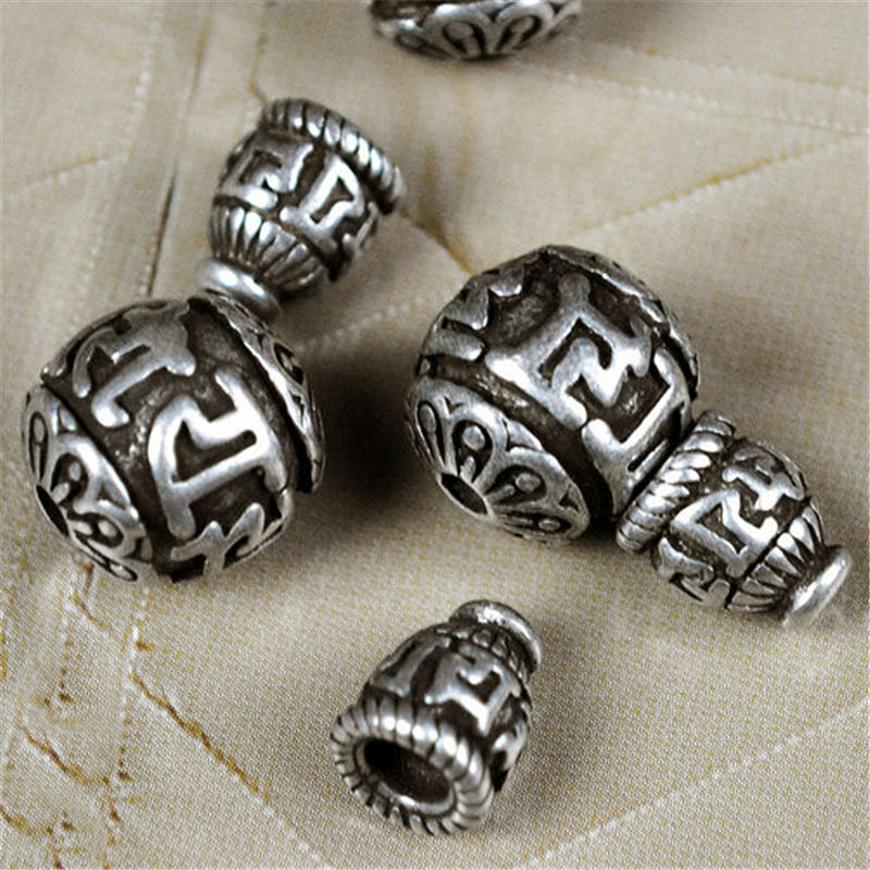 10 Cat Beads Spacer Beads Metal Antiqued Silver 8mm Findings Kitty Jewelry