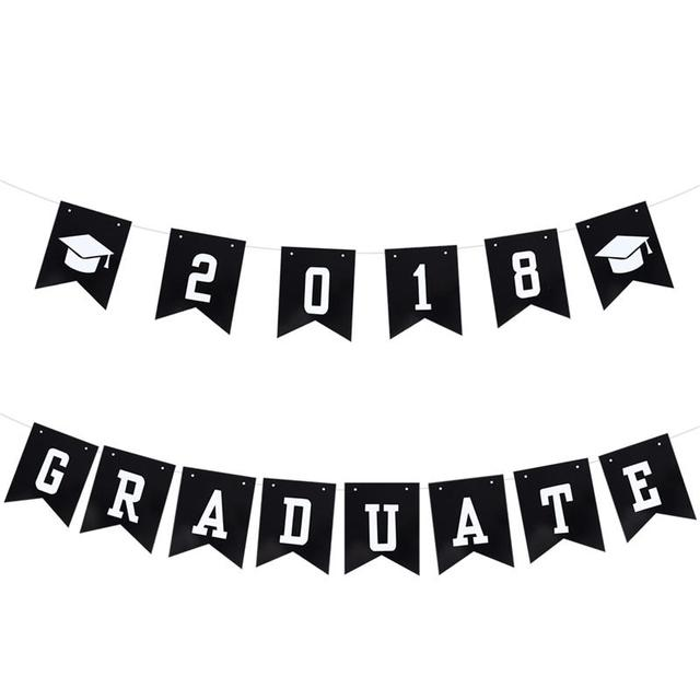 3 meters 2018 graduate doctorial hat paper banners class of 2018