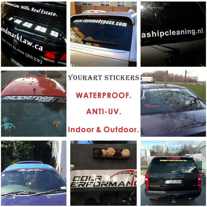 Image 2 - Car Styling Quality Personalized Customized Car Sticker Waterproof Custom Car Stickers Vinyl Decals On Windshield Rear Window-in Car Stickers from Automobiles & Motorcycles