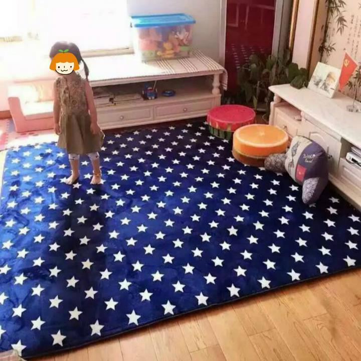 150X195CM Thicken Cloud Velvet Big Carpet For Living Room Classic Stars Bedroom  Rugs And Carpets Coffee