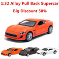 Maserati,Discount 50% Supercar,1:32 alloy pull back model car, open the door, music,Diecast cars,free shipping