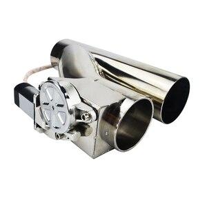 """Image 2 - VR الفولاذ المقاوم للصدأ 2.5 """" / 3"""" تفريغ صمام انقطاع الكهربائية العادم قطع مع جهاز VR CT93 عن بعد لاسلكي"""