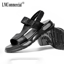 Magic Stick Mens Sandals Summer Youth Trend Roman Men Fashion Thick-soled Beach mens gladiator sandals summer cowhide