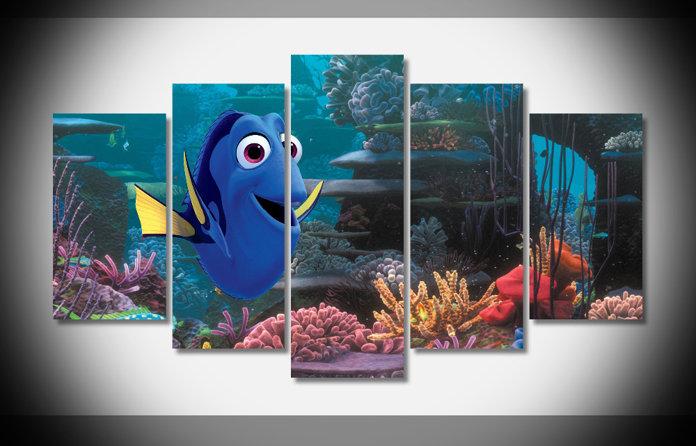 7016 Finding Dory Movie Animation Nemo Ocean poster Framed Gallery wrap art print home wall decor wall picture Already to hang