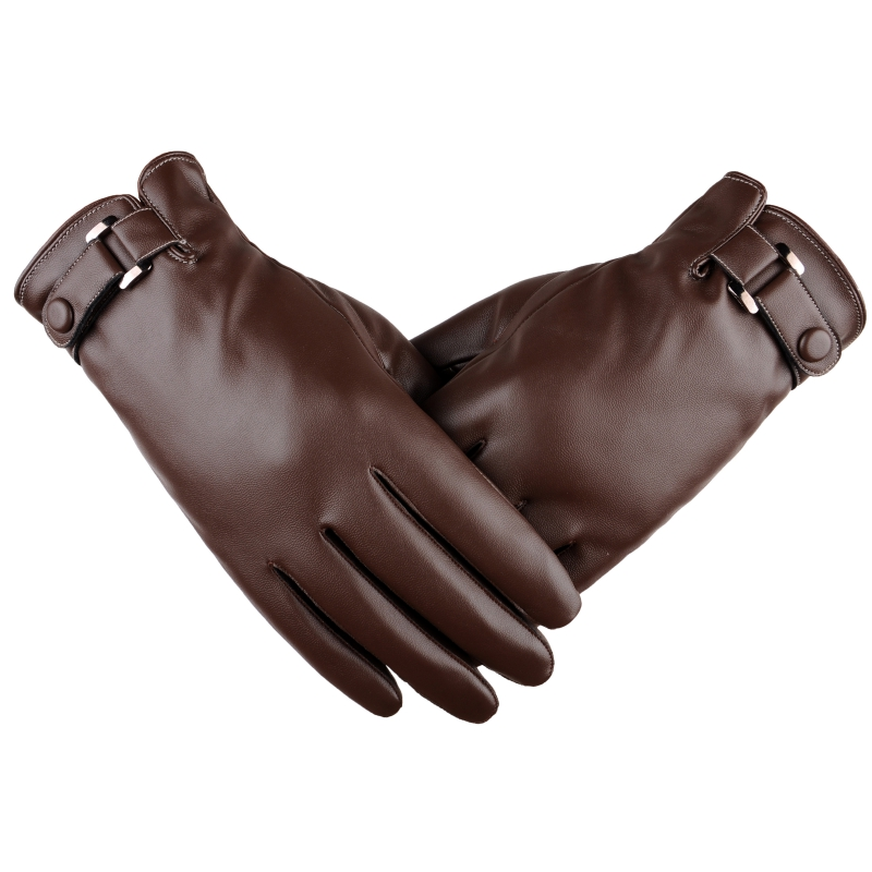 New Solid Windproof Gloves Warm Autumn Winter Men