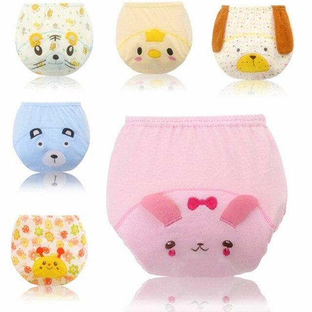 540ad95f754c Pantalones de entrenamiento para bebés niños tela pañales reutilizables  pañales impermeables bragas reutilizables pañal cubierta lavable