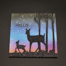 AZSG Towering Trees Lovely Deer Cutting Dies For DIY Scrapbooking Decoretive Embossing Decoative Cards Die Cutter