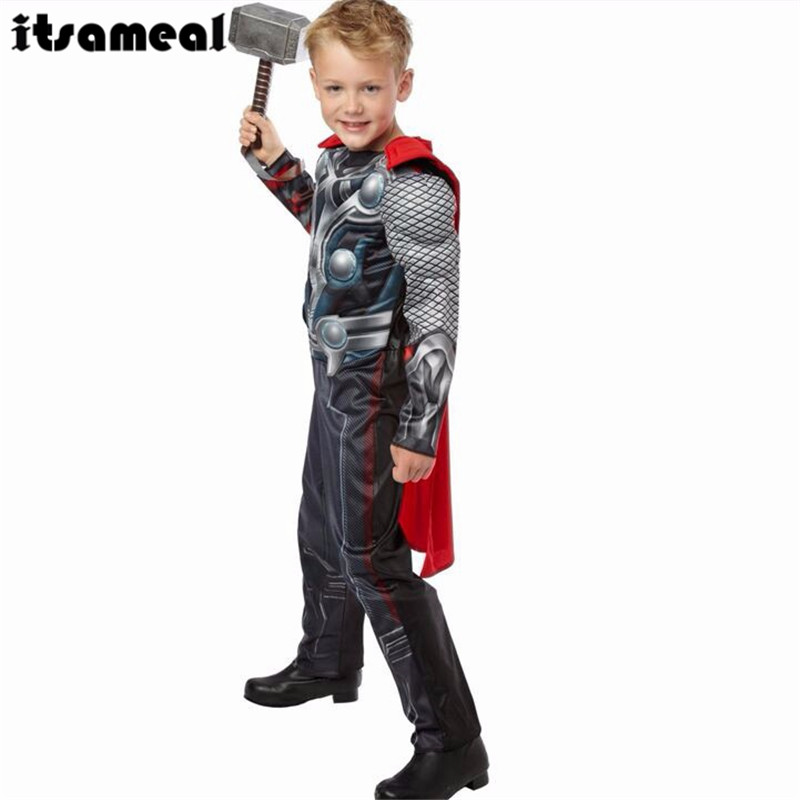 1 x The Avengers Thor Classic Muscle Child boys Halloween carnival movie Costumes Kids fantasia fancy dress