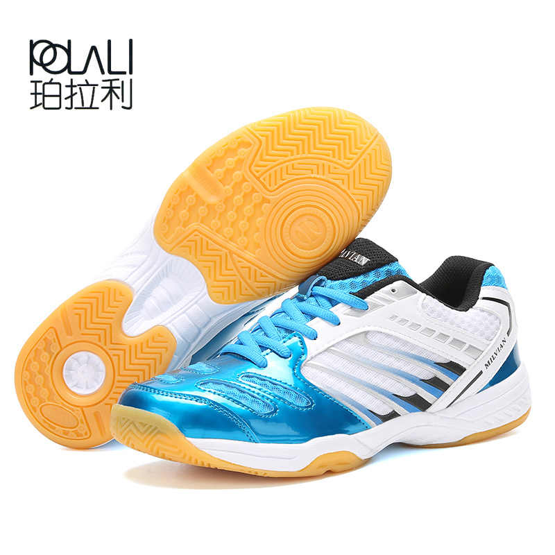 POLALI 2019 New Badminton Shoes Men Hot Women Sport Trainers Anti-Slippery Breathable Sport Shoes For Lovers Training Sneaker