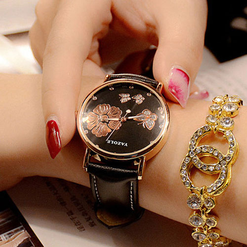 YAZOLE Simple Quartz Watch Women Watches Ladies Brand Butterfly Wristwatch For Female Wrist Clock Montre Femme Relogio Feminino mjartoria ladies watches clock women quartz watch simple sport bracelet watch student girl female hand wrist watches for women