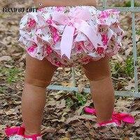 Lucky Kind Baby Kleding Bloemen Zijde Boog satijnen shorts ruffle diaper cover bloomer baby meisjes satijn slipje bloeiers 3 Kleuren