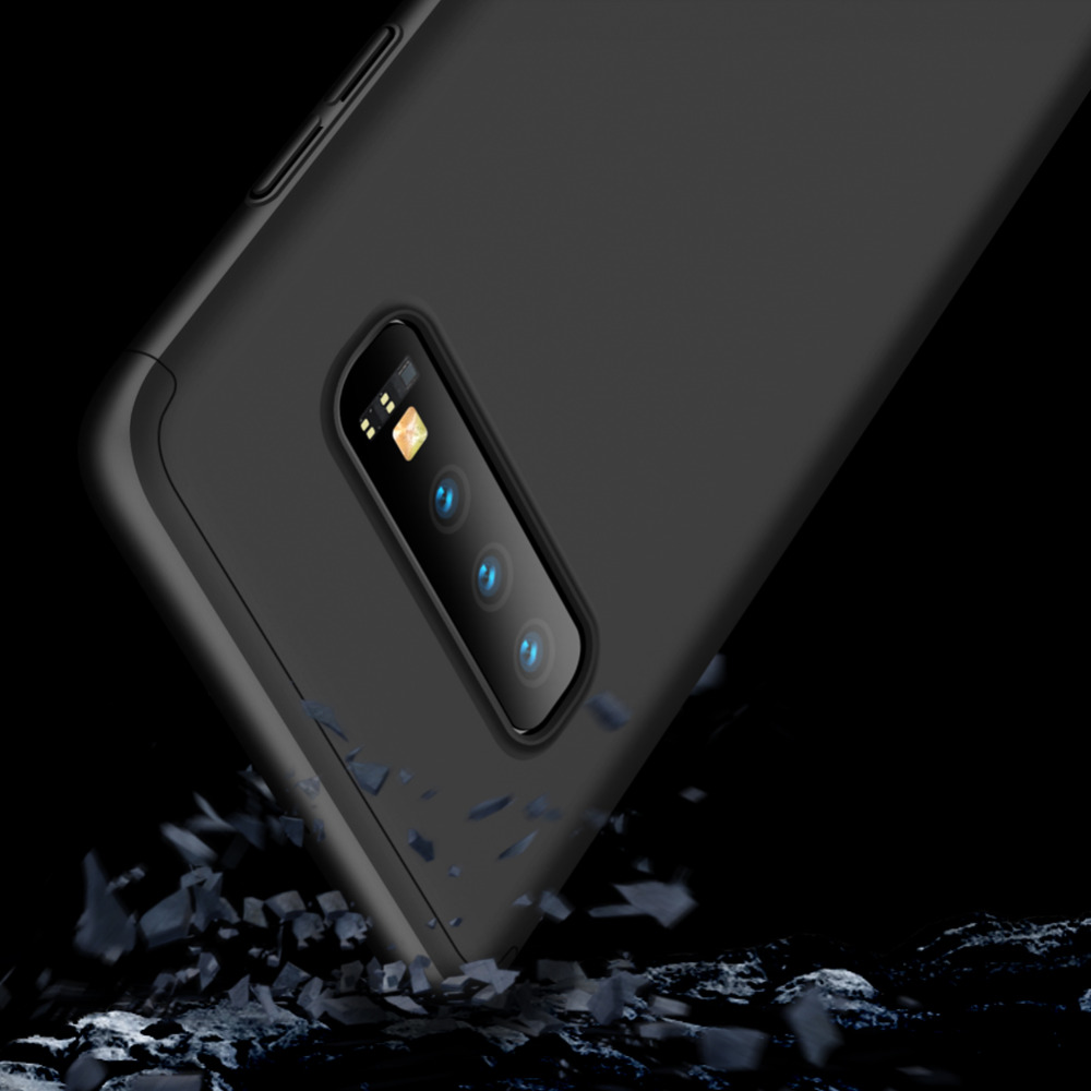 360 Degree Full Protection Hard Case For Samsung Galaxy S10 Plus Cover shockproof case For Samsung S10 Plus case hydrogel Film in Fitted Cases from Cellphones Telecommunications
