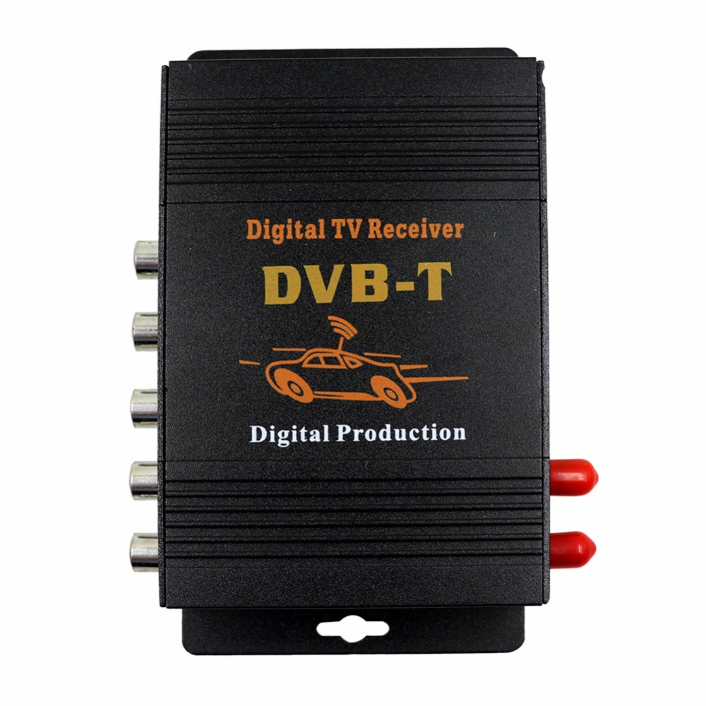 M-618 Car TV Tuner DVB MPEG-4 double antenna Digital TV BOX Receiver Mini TV Box work in Europe,Middle East , Australia 1080p mobile dvb t2 car digital tv receiver real 2 antenna speed up to 160 180km h dvb t2 car tv tuner mpeg4 sd hd