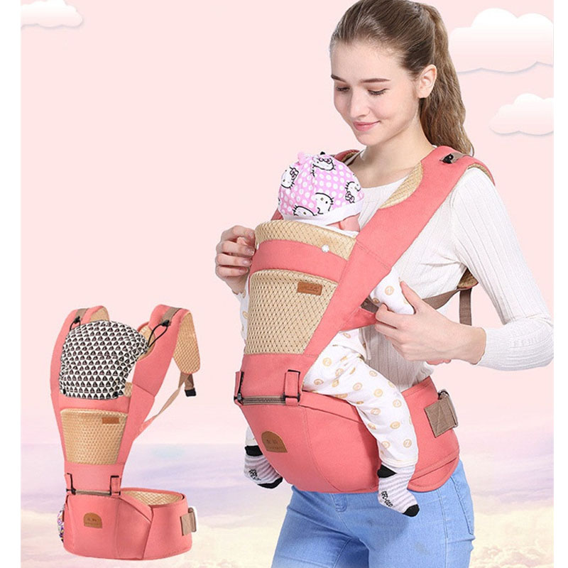 Breathable Ergonomic carrier backpack Portable infant baby carrier Kangaroo hipseat heap ...