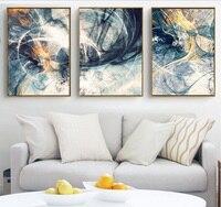 100% ручная работа абстракция искусство 3 шт. холст картины модульные картины стены Искусство Холст для гостиной украшения без рамки