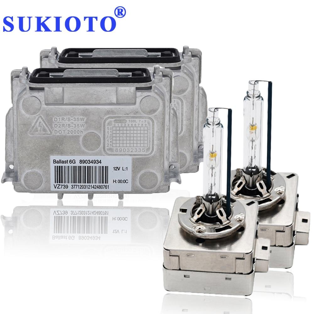SUKIOTO OEM D1S Ballast Xenon Kit D3S 6G Ballast 89034934 35W 4300K-8000K Metal D1s Kit Xenon Auto Car Headlight Accessories