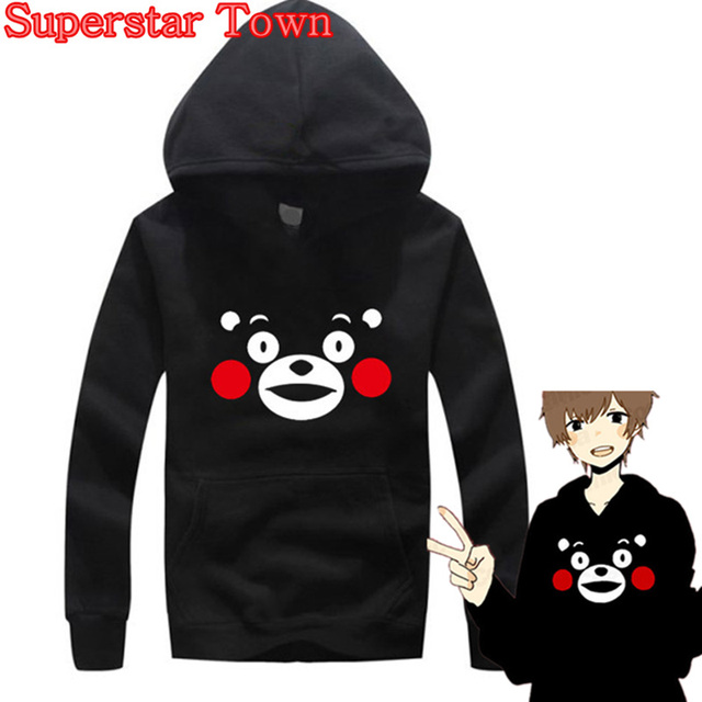 Aliexpress.com : Buy KUMAMON Hoodie Japan Mascot Kumamon Black ...