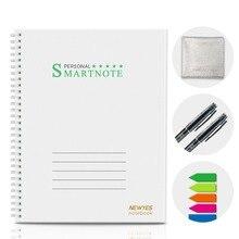NEWYES A4 Smart многоразовые стираемый Тетрадь Wirebound Cloud Storage перезаписываемый журнал дневник блокнот с ручкой проект Бумага для малыша