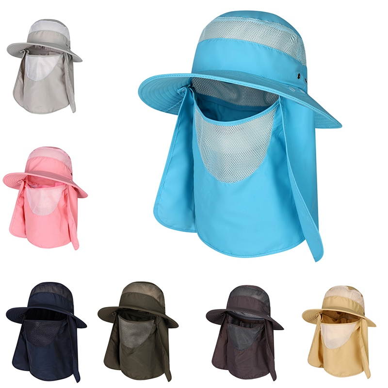 Sun Cap Breathable Wide Brim Fishing Hat UV Protection  Removable Face Neck Flap Hiking Travel Camping Gardening Boating PROSun Cap Breathable Wide Brim Fishing Hat UV Protection  Removable Face Neck Flap Hiking Travel Camping Gardening Boating PRO