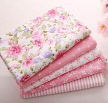 5 pcs 40cm*50cm Pink 100% Cotton Fabric For Sewing Fat Quarter Quilting Patchwork Tissue Tilda Doll Cloth Kids Bedding Textile(China)