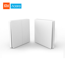 цена на Xiaomi Original Aqara Smart ZigBee Zero Line Fire Wire Light Switch Remote Control Wireless Key Wall Switch With Mi Home