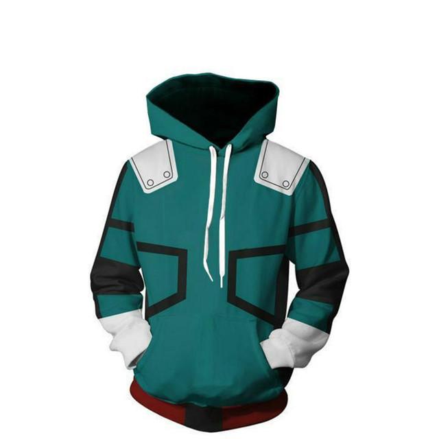 My hero academia Zipper Hoodie All Might Cosplay Costume Sweatshirt Jackets