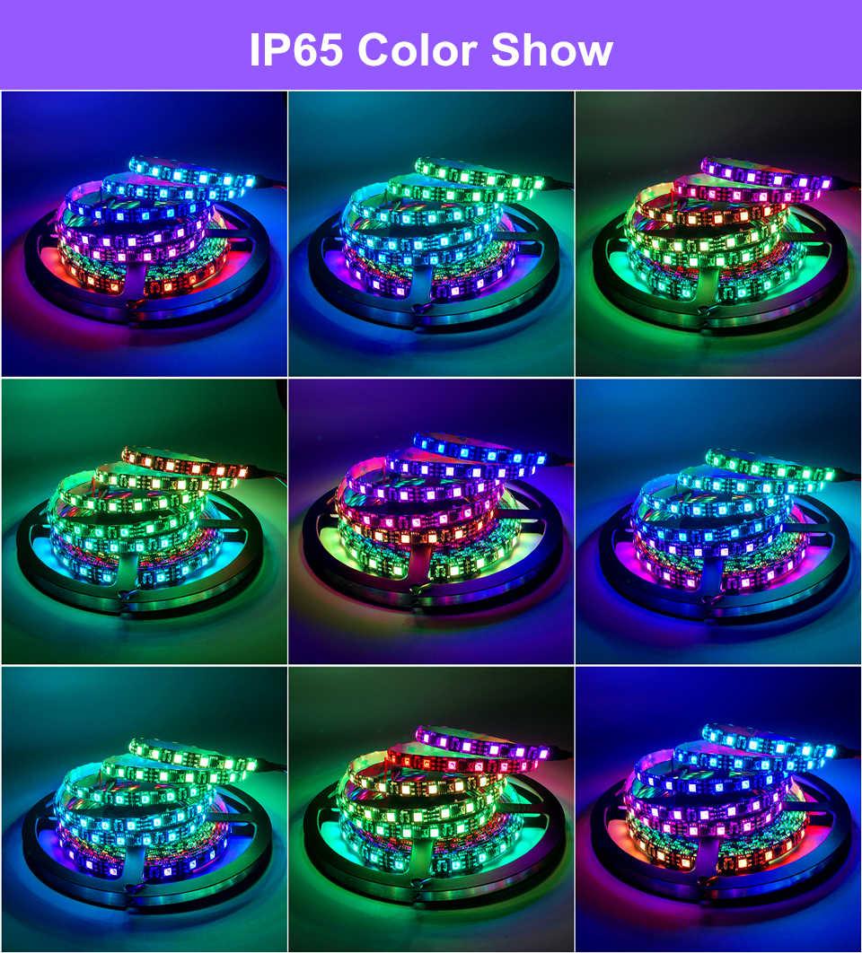 0,5 m 1m 2m 3m 4m 5m Color tira LED del Pixel WS2811 12V 12V 30 LED/M 60 LEDs/M IP30 IP65 IP67 5050 impermeable RGB sueño cinta de Color