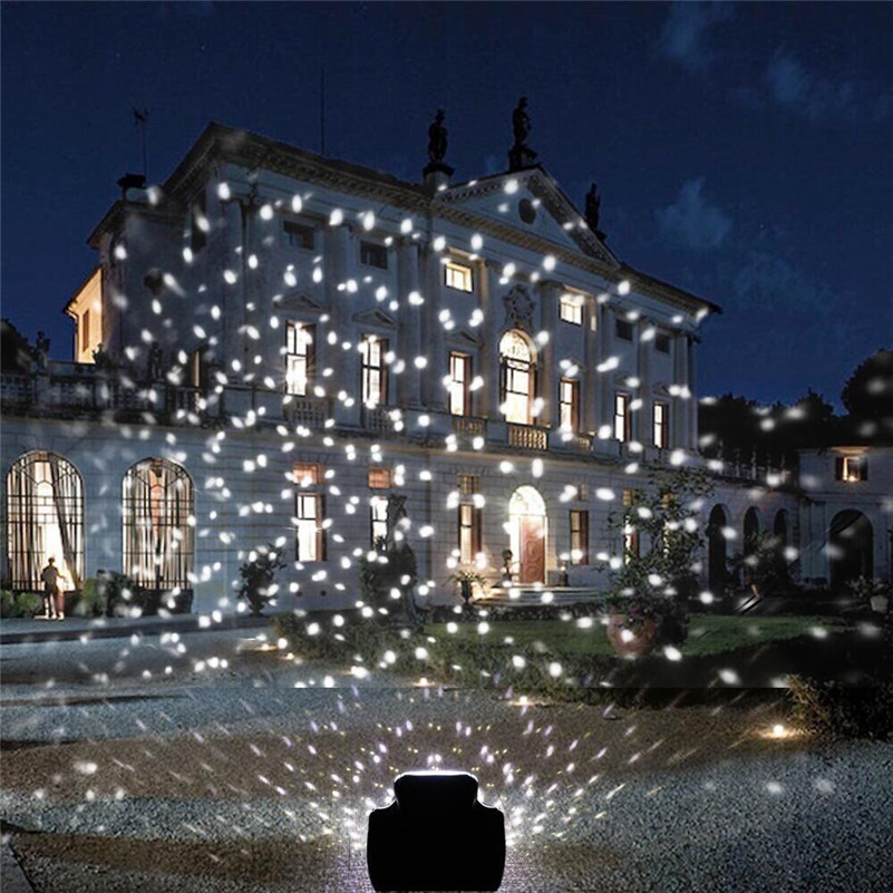 Outdoor Garden Laser Projector Moving Snow Lamps Outdoor Snowfall Laser Light for Christmas Party Decor Lighting CF254