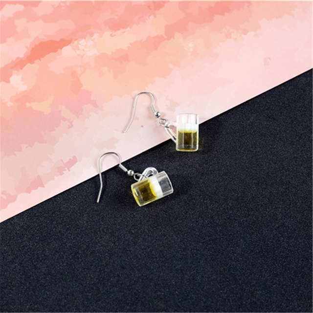 Women s Hot Fashion Statement Earrings Handmade Multi style Drink Bottle Beer Resin Earrings Women Jewelry.jpg 640x640 - Women's Hot Fashion Statement Earrings Handmade Multi-style Drink Bottle Beer Resin Earrings Women Jewelry Funny Earrings Gifts