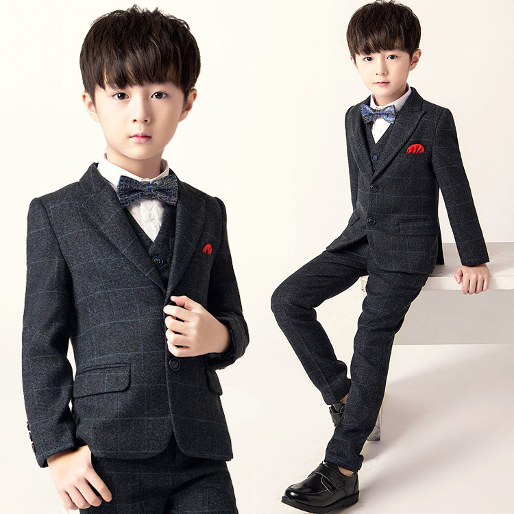 New Childrens School Uniform Suit Sets Flwoer Boy Wedding Party  Piano Performance Dress Costume Kids Blazer Vest Pant OutfitsNew Childrens School Uniform Suit Sets Flwoer Boy Wedding Party  Piano Performance Dress Costume Kids Blazer Vest Pant Outfits