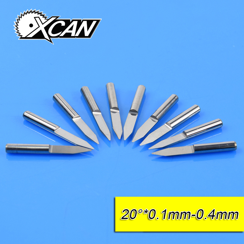 Free Shipping10Pcs 3.175mm Tungsten Steel V Shape Carbide PCB Engraving Bits CNC Router Tool 20 Degree  Machine Accessories hot sale tungsten steel 10pcs 3 175mm carbide pcb engraving bits cnc router tool 30 degree 0 1mm