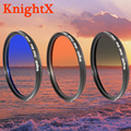 KnightX Graduated Color Lens Filter Accessories for Canon EOS NIKON D5200 D5100 D3300 D3200 d7100 DSLR Camera 52MM 58MM 67MM 77