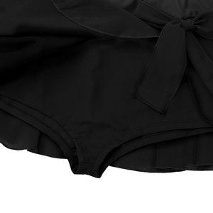 Image 5 - Iiniim Donne Adulti di Ballo Mini Chiffon Corto Gonna A Vita Alta Elastico Attivo con Built In Slip Ginnastica Pattinaggio Su Ghiaccio Pannello Esterno